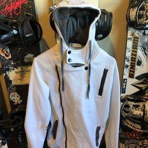 White men's sweatshirt size medium